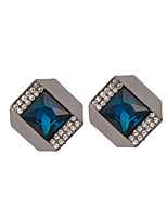 Women's Fashion Individuality Alloy Square Zircon Stud Earrings HJ0055