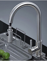 Nickel Brushed Pull Out Kitchen Faucet Hot & Cold Mixer Sink Water Tap