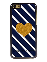 Personalized Gift Golden Heart Design Aluminum Hard Case for iPhone 5C