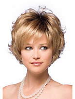 2015 Women Short Curly Synthetic Hair Wigs Blonde mix for Women