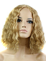 Europe And The United States the New  Lady Golden  Corn Hot Short Curly Wig