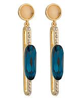 Women's Individuality Inlay Zircon Long Stud Earrings HJ0098