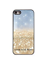 Personalized Gift Golden Sand Design Aluminum Hard Case for iPhone 4/4S