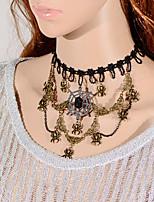 Vintage Spider Cobweb Necklace