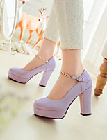 Women's Shoes Stiletto Heel Heels Pumps/Heels Office & Career/Dress Blue/Pink/Purple/White