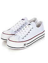 Zapatos de mujer - Tacón Plano - Comfort / Bailarina / Punta Redonda - Planos - Casual - Tela - Negro / Azul / Rojo / Blanco