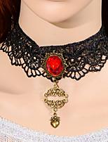 Collier Mariage/Engagement/Anniversaire/Cadeau/Occasion spéciale Rubis Tulle Femme