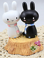 Black and White Rabbit Lovers (Set of 2 Excluding Accessories)