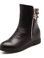 Women's Shoes Synthetic/Rubber Flat Heel Bootie/Round Toe/Closed Toe BootsOutdoor/Office & Career/Party &