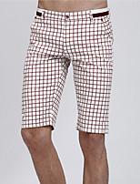 Men's Shorts , Casual/Work/Sport Plaids & Checks Cotton/Cotton Blend/Linen