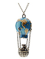 Fire Balloon Shape Metal Necklace