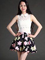 Women's Floral Skirts , Sexy/Casual/Print/Cute Mini