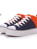 Zapatos de mujer - Tacón Bajo - Creepers / Comfort / Punta Redonda - Sneakers a la Moda - Exterior / Casual / Deporte - Tela -Negro /