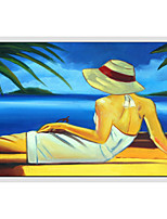 Oil Paintings Modern Figure Style , Canvas Material with Stretched Frame Ready To Hang SIZE:60*90CM.