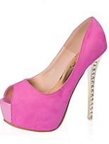 Women's Shoes Stiletto Heel Peep Toe/Open Toe Sandals Casual Pink