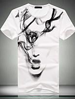 Men's Casual Cotton Short Sleeved T-Shirt