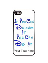 Personalized Gift Dream and Do It Design Aluminum Hard Case for iPhone 5/5S