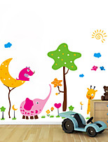 Wall Stickers Wall Decals, Cartoon Elephant Stickers