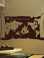 Wall Stickers Wall Decals, Modern Scroll the map PVC Wall Stickers