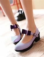 Women's Shoes Synthetic Kitten Heel Heels/Basic Pump Pumps/Heels Office & Career/Dress/Casual Green/Pink/Purple/Beige