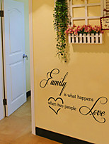 Wall Stickers Wall Decals Style Family Is What English Words & Quotes PVC Wall Stickers