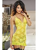 Women's Sexy Lingerie Babydoll Sleepwear Lace Nightwear Dress + G-string Hot