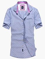 Men's Casual Short Sleeve Cotton Shirt