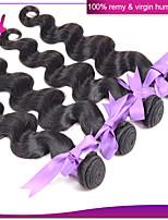 7a unverarbeitete peruanische reine Haarkörperwelle peruanisches Menschenhaar 100% Bündel weben 4pcs