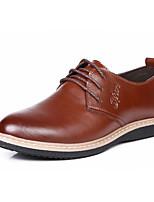 Men's Shoes Outdoor/Office & Career Leather Oxfords Black/Brown/Orange