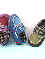 Baby Shoes  Suede/Canvas Baby Boys Slip On Outdoor  Shoes Suede Boat Shoes Blue/Brown/Purple for Toddlers