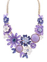 European Style Fashion Metal Color Flower Necklace