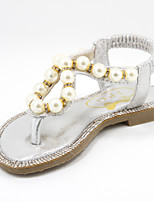 Girls' Shoes Casual Round Toe Faux Leather Sandals Pink/Silver