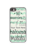Personalized Gift Hakuna Matata Design Aluminum Hard Case for iPhone 4/4S