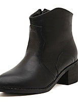 Women's Shoes Chunky Heel Combat Boots Boots Outdoor/Casual Black