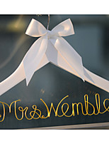 Personalized Custom Wedding Dress Hanger with Gold Wire Name