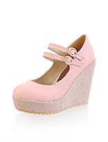 Women's Shoes Synthetic Wedge Heel Heels/Basic Pump Pumps/Heels Office & Career/Dress/Casual Yellow/Pink/Beige