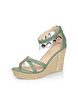 Women's Shoes  Synthetic  Wedge Heel  Round Toe  Open Toe  Sandals  Outdoor  Casual