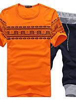 Conjuntos Activewear De los hombres Casual/Deporte Estampado/Un Color - Algodón - Manga Corta