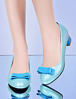 Women's Shoes Low Heel Round Toe Pumps/Heels Office & Career/Dress Blue/Pink/White