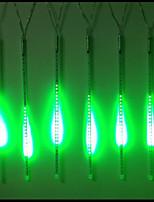 DC12V de entrada 46W 50cm largos 72pcs 5050 SMD LED luz lluvia de meteoros, color verde 10 PC / sistema