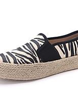 Zapatos de mujer Tela/Tejido Tacón Plano Punta Redonda Sneakers a la Moda Casual Negro/Rosa