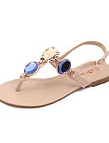 Chaussures Femme - Décontracté - Rose / Beige - Talon Plat - Tongs / Bout Ouvert - Sandales - Similicuir