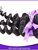 Indian Loose Wave Virgin Hair Human Hair Natural Black Hair Extension Dyeable can be permed 3pcs/lot