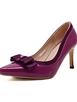 Chaussures Femme Cuir Verni Talon Aiguille Talons/Bout Pointu/Bout Fermé Escarpins / Talons Décontracté Bleu/Violet