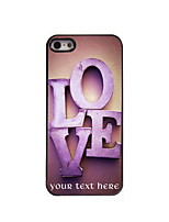 Personalized Gift The Love Design Aluminum Hard Case for iPhone 5/5S