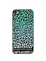 Personalized Gift Blue Leopard Print Design Aluminum Hard Case for iPhone 4/4S
