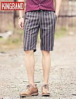 Men's Casual/Work/Sport Striped Shorts Pants (Cotton Blend) KB6D07