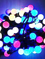 6w 5 metros de diámetro exterior del bulbo 50pcs llevó luces de la secuencia de modelado pequeñas luces de la bola, color rgb