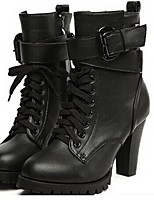Women's Shoes Faux Leather Stiletto Heel Fashion Boots Boots Casual Black