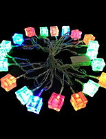 3W 4 Meter Outer Diameter 20pcs Bulb LED Modeling String Lighting Ice Brick Lights, RGB Color